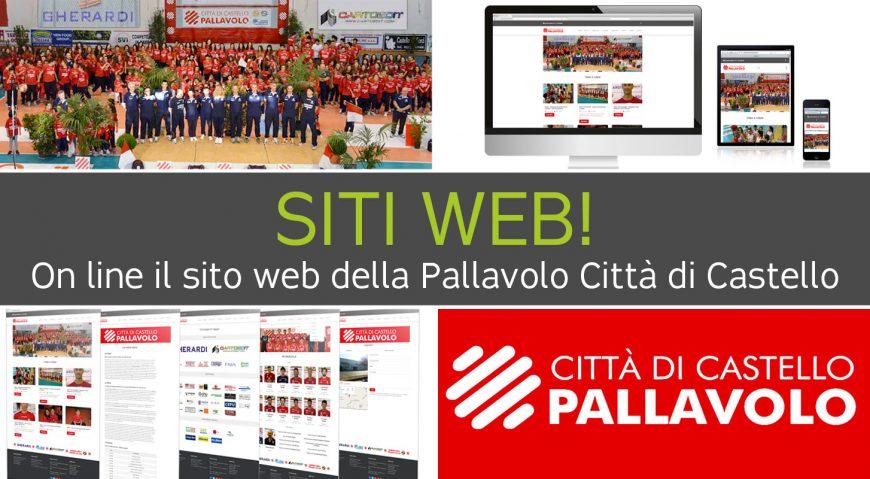 On line il sito web <br> Pallavolo Città di Castello
